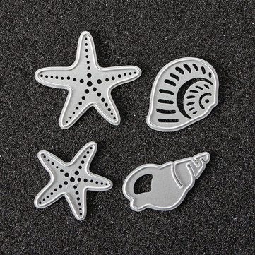 Conch Starfish Metal Cutting Dies Stencil Scrapbook Card Photo Album Paper Craft Decoration