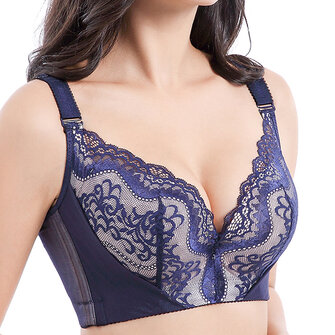 Lace Adjustable Gather Memory Metal Wire Bra