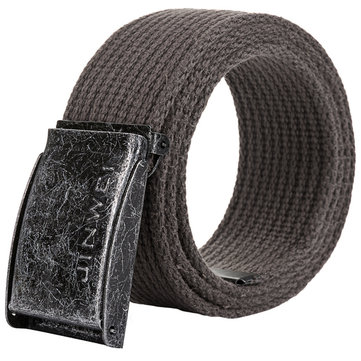 125cm AWMN S08 3.8cm Canvas Alloy Buckle Retro Men Women Pants Belt Military Tactical Belt