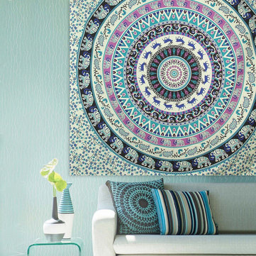 Indian Mandala Tapestry Wall Hanging Blanket Beach Towel Bedding Bedspread Home Decor