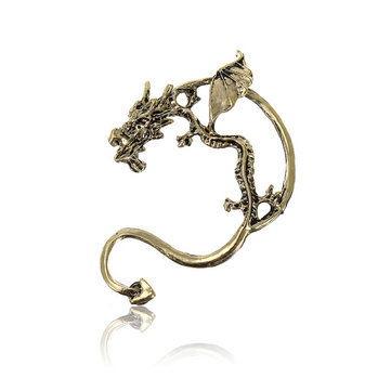 Vintage Cuff Wrap Fly Dragon Bite Ear Clip