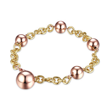 INALIS Simple Bracelet Rose Gold Ball Women Bracelet