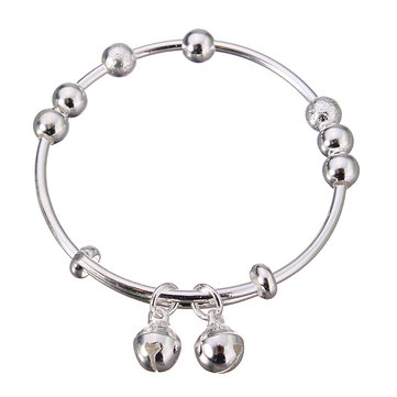 Simple Baby's Bracelet Silver Bell Beads Adjustable Baby Bracelet