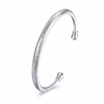 Simple Women Bracelet Silver Plated Serpentine Pattern Bracelet