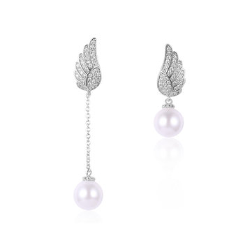 Luxury Elegant Earrings Wings Tassel Rhinestone Earrings