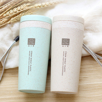 Euro-American Wheat Straw Vacuum Insulation Drinkware Double Insulation Coffee Tea Mug Water Bottle
