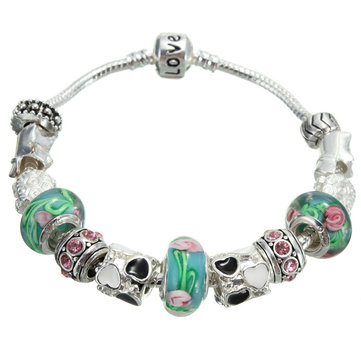 Charms Glass Beads Lampwork Bracelet