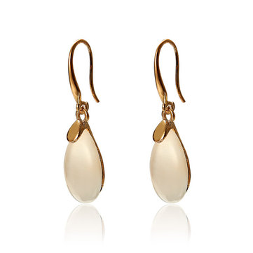 Opal Waterdrop Gold Plated Dangle Earrings