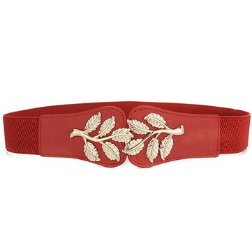 Women Skirt Decoration Waist Design PU Belt Casual Wild Vogue Elastic Waistband Waist Belt