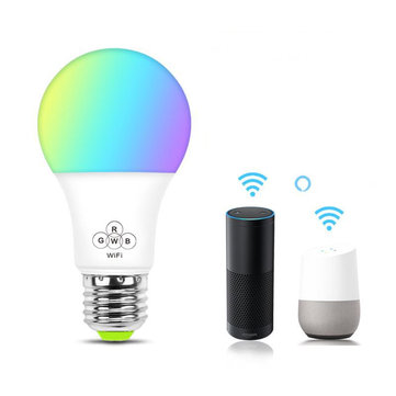 AC100-240V 4.5W E27 RGB WIFI Smart LED Light Bulb Remote Voice Control Lamp Work With Amazon Alexa Google Home