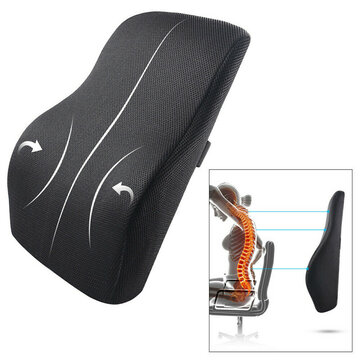 Memory Foam Seat Chair Lumbar Back Support Cushion Pillow For Office Home Car