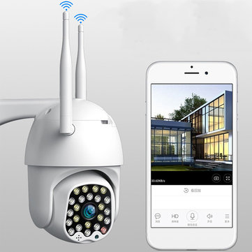 Bakeey 23 LED 5MP 1080P Smart Dome Speed Camera Two-way Audio Full Color Night Vision IP66 Waterproof Automatic Tracking CCTV Home Security Monitor