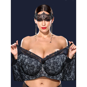 Plus Size K Cup Full Busty Chest Gather Minimizer Seamless Bra