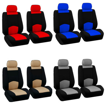 Full Set Car Seat Cover Polyester For Auto Truck SUV 2 Heads 2MM Foam Filled Polyester Fabric