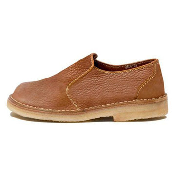 Large Size Women Casual Comfy Round Toe Slip On Brown Loafers
