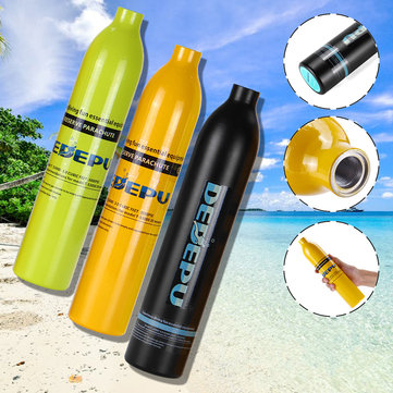 DIDEPU 0.5L Oxygen Spare Scuba Air Tank Underwater Mini Cylinder Breathing Bottle Diving Set