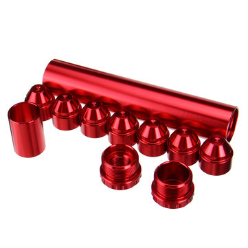 11Pcs Red 1/2inch-28inch Aluminum Fuel Filter Kit Fit For NAPA 4003 WIX 24003