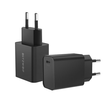 BlitzWolf® BW-S12 27W QC4+ QC4.0 QC3.0 PD Type-C Port EU AU USB Charger for iPhone 11 Pro XR Huawei P30 for Samsung Xiaomi