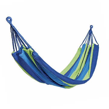 1/2 Person Portable Lightweight Rope Hanging Hammock Swing Bed Camping Sleep