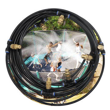 6M/9M Outdoor Mist Coolant System Water Sprinkler Garden Greenhouse Patio Mister Cooling Spray Kits Adjustable Atomizing Nozzles Large Flow