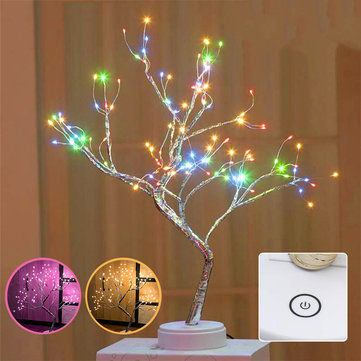 108LED USB Copper Wire Firefly Tree Touch Control Night Lamp Christmas String Light Holiday Decoration