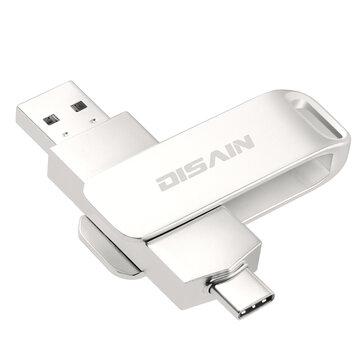 DISAIN Type-C USB-C USB 3.0 32GB 64GB 128GB 256GB OTG Flash Drive For Type-C Smart Phone Samsung Galaxy Note 10 S10+ Huawei P30 Laptop MacBook