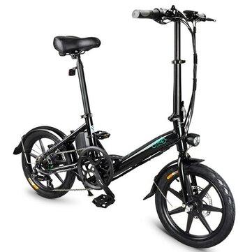 [EU Direct] FIIDO D3S Shifting Version 36V 7.8Ah 300W 16 Inches Folding Moped Bicycle 25km/h Max 60KM Mileage Electric Bike