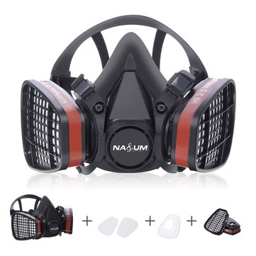 Painting Dust Respirator Spraying Face Safety Half Work Filter Gas Mask