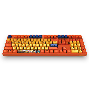 AKKO DragonBall Z GOKU 108 Key Dyesub PBT Keycap for AKKO 3108 V2 Mechanical Gaming Keyboard