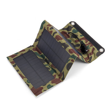 10W 5V Waterproof Portable Foldable Solar Panel Charger with USB Port for Camping Hiking Climbing Power Bank