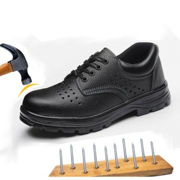 TENGOO Men's Work Shoes Anti-Smashing Hard Safety Shoes Steel Toe Keep Warm Waterproof Sneakers