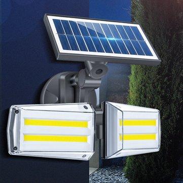 12W Adjustable Dual Head 80 COB Solar Wall Light Outdoor LED Radar Sensor Waterproof Security Landscape Lamp