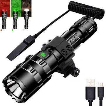 XANES 1102 L2 1600Lumens 5Modes USB Rechargeable Brightness Long-rang LED Flashlight Pressure Switch 18650 Led Torch