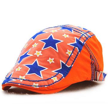 เด็กชายเด็กชายหญิงสาวฝ้ายพิมพ์ Berets หมวกแคชชวลเด็กเดินทางท่องเที่ยว Visor Sun Cap
