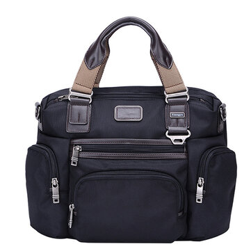 Men Waterproof Business Travel Laptop Bag Large Capacity Multi-pocket Handbag Crossbody Bag