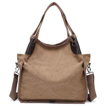 Women Quality Canvas Casual Large Capacity Handtas Schoudertas Crossbody Bag