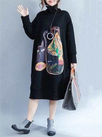 Plus Size เสื้อชั้นในสตรีขนาดใหญ่ Cat และเสื้อกันฝนเนื้อหนา