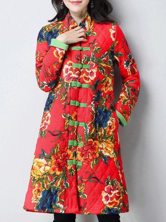 Plus เสื้อโปโลผ้าลินินจากผ้าฝ้ายลายวินเทจลายวินเทจ