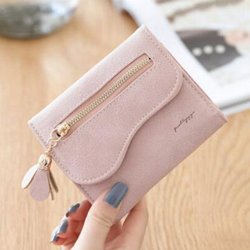 Bi-fold Stylish PU Leather Small Wallet Purse For Women