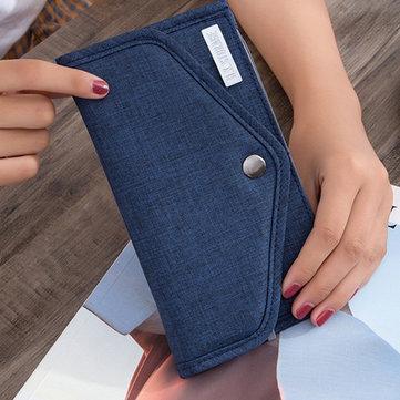 الرجال النساء الهاتف سستة جيب 6 فتحات أكسفورد موجز الأزياء محفظة