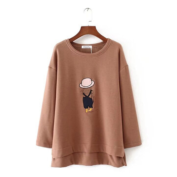 Women Thick Velvet Cartoon Shirt