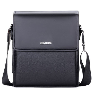 Men PU Leather Wearproof Business Shoulder Crossbody Bag