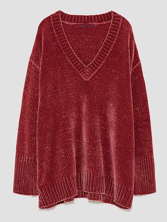 Plus เสื้อลำลองสตรีขนาดกลางคอวี