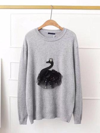 Plus เสื้อผ้าลำลองสตรีขนาดสตรี Swan