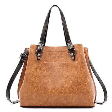 المرأةبوالجلودحقيبةكبيرةحمل حقيبة ريترو كروسبودي