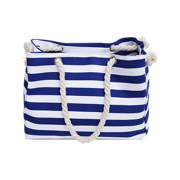 Women Canvas Patchwork Beach Bag Hnadbag Shoulder Bag