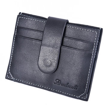 Men Light Coin Bag Card Photo Holder Fashion Mini Wallet