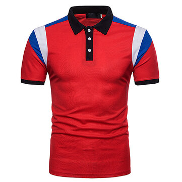 Men's Short Sleeve Lapel POLO T-Shirt