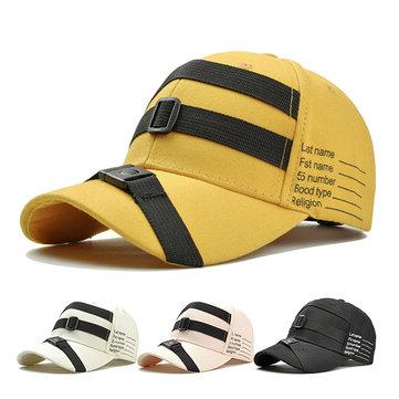 Unisex Men Cool Cotton Stripe Baseball Caps Outdoor Solid Visor Trucker Hats