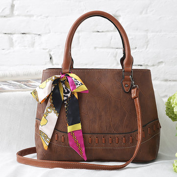 Women Stone Grain Fashion Scarf Bag Large Capacity Handbag